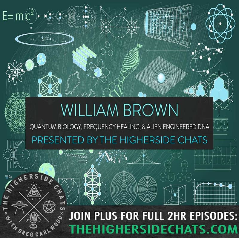 William Brown Quantum Biology Healing Alien Engineered DNA Interview on The Higherside Chats Podcast