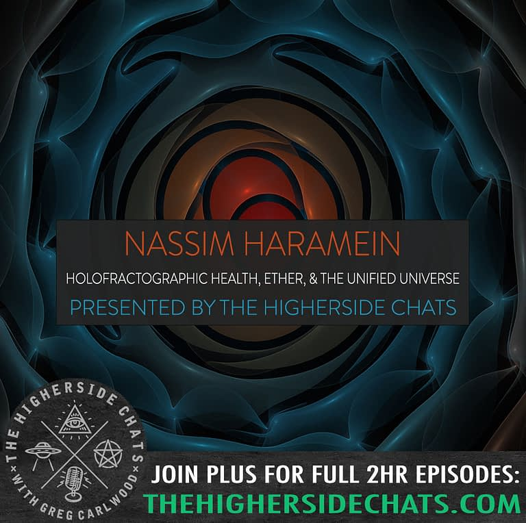Nassim Haramein Holofractographic physics ether universe interview on The Higherside Chats podcast