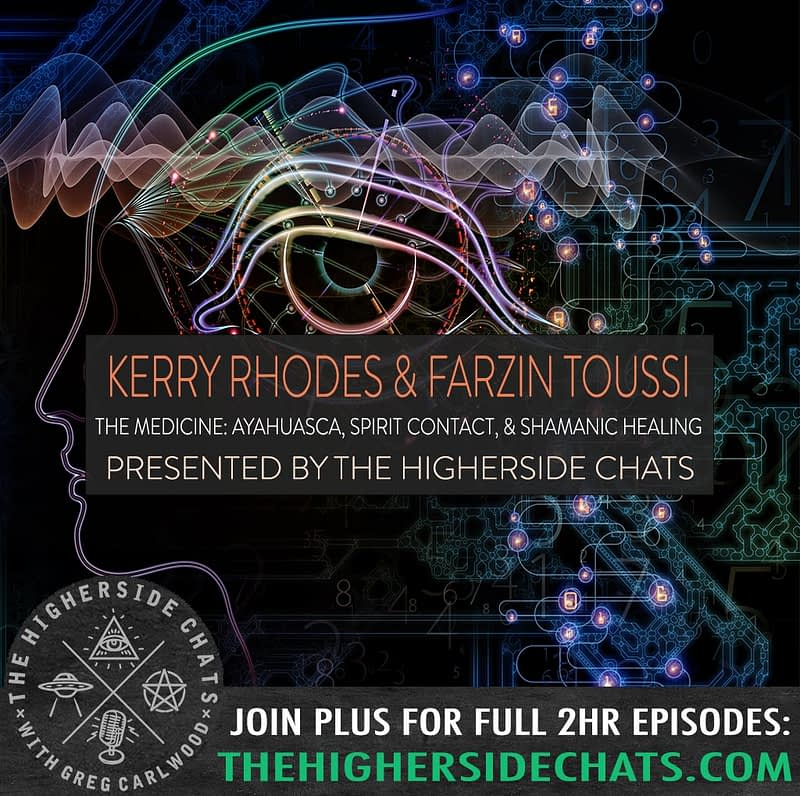Kerry Rhodes Farzin Toussi The Medicine Interview on Ayahuasca with The Higherside Chats Podcast