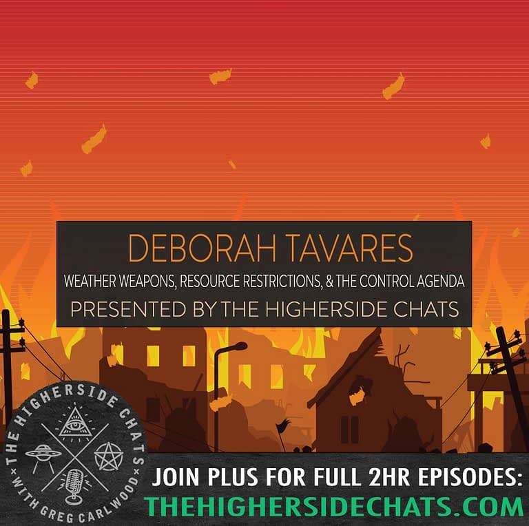 Deborah Tavares Weather Weapons Stop The Crime Interview on The Higherside Chats Podcast